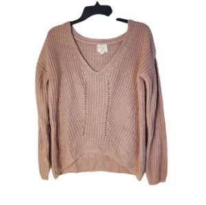 Hippie Rose Dusty Pink Sweater Large